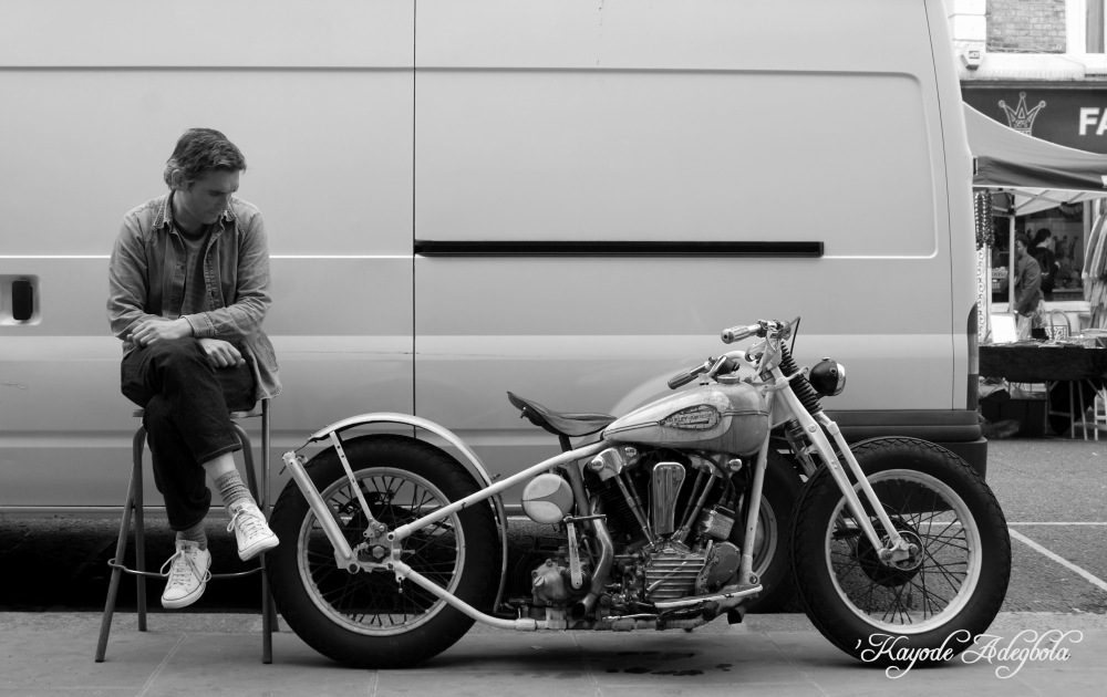 "photoblog image ""watching over the 1942 Harley"""